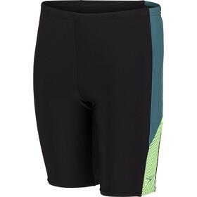 speedo Dive Jammer Boys black/swell green/zest green